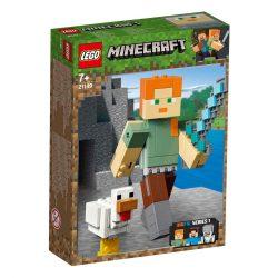 LEGO Minecraft BigFig Alex csirkével