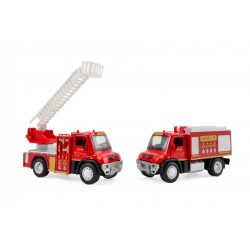Hátrahúzós tűzoltóautó fénnyel és hanggal, többféle, Magni