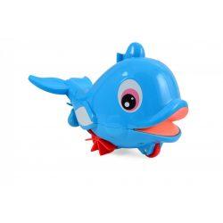 Felhúzható delfin fürdő- és gurulós játék, Magni