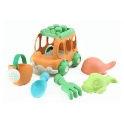 Öko homokozó szett autóval, 6 részes, Magni