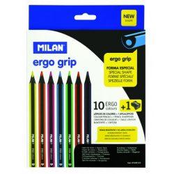 Ceruza színes Milan 10-es 291 Ergo, ajándék hegyezővel