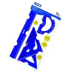 Vonalzókészlet Milan Flex 4 db-os, 30cm+60/180+45/130+180/100) kék