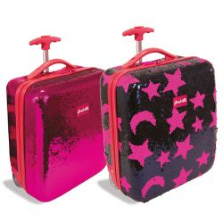 Girabrilla flitteres, gurulós gyerekbőrönd, 2 féle színben Nice Group