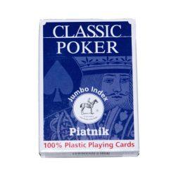 Plasztik póker 1*55 lap nagyindex