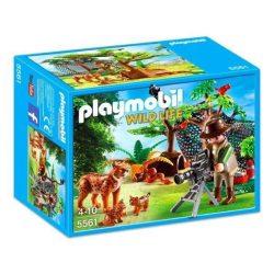 Hiúzcsalád és a természetfotós 5561 Playmobil