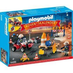 Adventi naptár - Tűzvédelmi építési helyszín Playmobil 9486