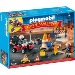 Adventi naptár - Tűzvédelmi építési helyszín 9486 Playmobil