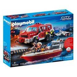 Playmobil Tűzoltóautó mentőcsónakkal