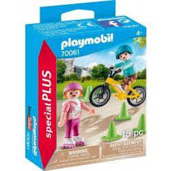 Görkorizó és bicikliző gyerekek Playmobil
