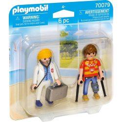 Duo Pack orvos és páciens Playmobil