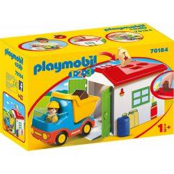 1.2.3 Teherautó formaválogató garázzsal Playmobil