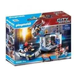 Rendőrségség autóval és helikopterrel 70326 Playmobil