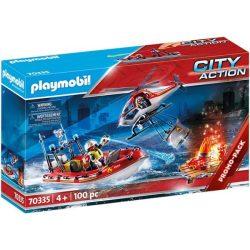 Tűzoltók helikopterrel és csónakkal 70335 Playmobil
