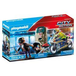 Rendőrségi motor: Pénztolvaj nyomában 70572 Playmobil