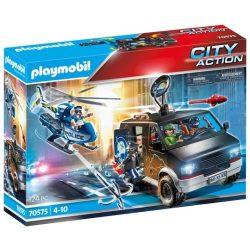 Rendőrségi helikopter: Menekülő autós nyomában 70575 Playmobil