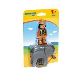 Kiselefánt idomárral Playmobil