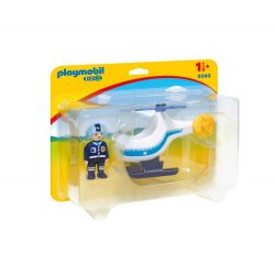 Rendőrségi kishelikopter Playmobil
