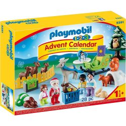 1.2.3 Adventi naptár - Erdei karácsony Playmobil 9391