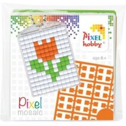 Pixel Kulcstartó szett (kulcstartó alaplap + 3 szín) tulipán