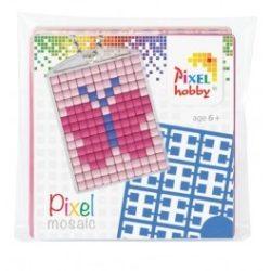 Pixel Kulcstartó szett (kulcstartó alaplap + 3 szín) lepke