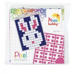 Pixel Kulcstartó szett (kulcstartó alaplap + 3 szín) nyuszi
