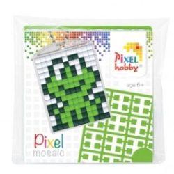 Pixel kulcstartó szett - BÉKA - (kulcstartó alaplap + 3 szín)