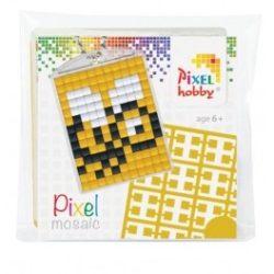 Pixel Kulcstartó szett (kulcstartó alaplap + 3 szín) méhecske