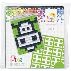 Pixel Kulcstartó szett (kulcstartó alaplap + 3 szín) boci