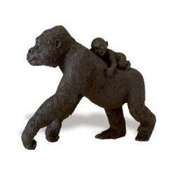 Lowland Gorilla with Baby-Lowlandi Gorilla kicsinyével-Safari