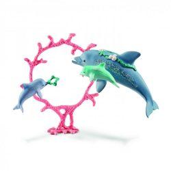 Delfin mama kicsinyeivel