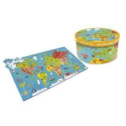 Villágtérkép XXL puzzle 150 db-os Scratch Europe