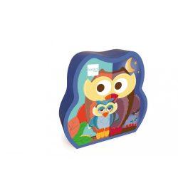 Két oldalas 39 db-os puzzle - A bagoly család, Scratch Europe