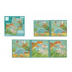 Mágneses puzzle könyv - Dínók - Scratch Europe