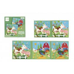 Mágneses  puzzle könyv - Farm - Scratch Europe