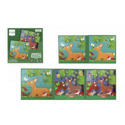 Mágneses puzzle könyv - Erdő - Scratch Europe