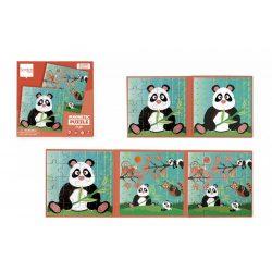Mágneses puzzle könyv - Panda - Scratch Europe