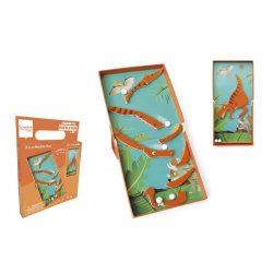 2 az 1-ben mágneses puzzle és golyófuttató játék, dinós Scratch Europe