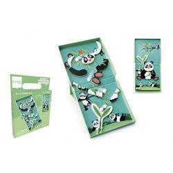 2 az 1-ben mágneses puzzle és golyófuttató játék, pandás Scratch Europe
