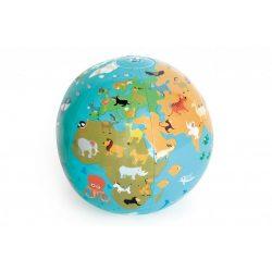 Felfújható földgömb labda 30 cm Scratch Europe