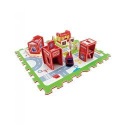 Habszivacs puzzle tűzoltó autóval és állomással Tatamiz