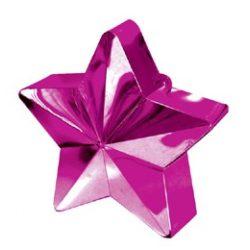 Magenta rózaszín csillag léggömbsúly