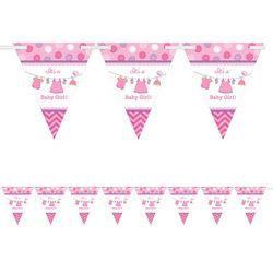Shower with love pink zászlófüzés babaszületésre