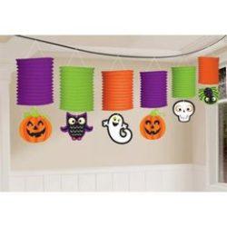 Halloween Mintás Lampion Füzér - 365 cm-es