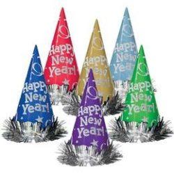 Happy New Year Színes Glitteres Szilveszteri Csákó Kalap