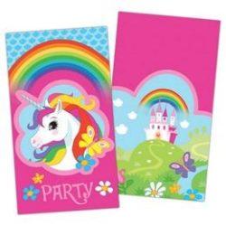 Unikornis party meghívó kártya