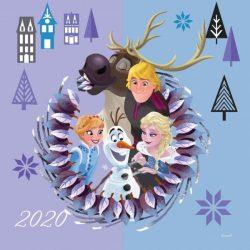 Falinaptár lemez (29*58)   Frozen