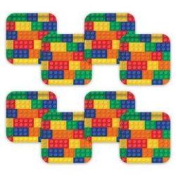 Block Party - Lego Parti Tányér - 8 db-os, 27 cm