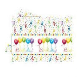 Happy Birthday Streamers - Szülinapi part asztalterítő 120 x 180 cm