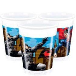Batman vs Superman - Batman Superman Ellen Parti Pohár - 200 ml, 8 db-os