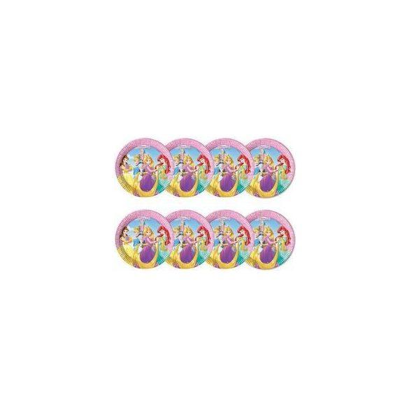 Hercegnők Disney - Princess Heart Strong Parti Tányér - 20 cm, 8 db-os